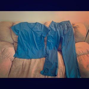 Other - Medium blue scrubs- shirt & pants